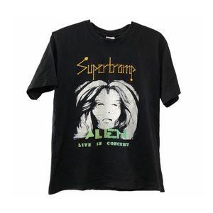 Supertramp World Tour Band Tee 2011 Alien Two Blk